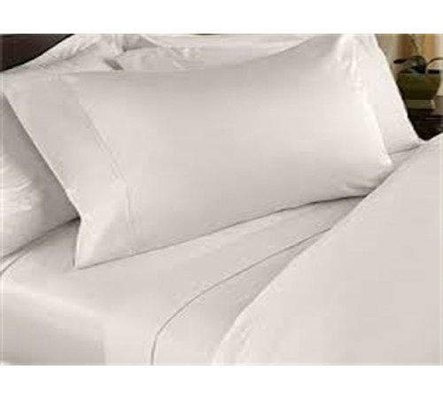 Fitted Sheet Plain White, 500TC