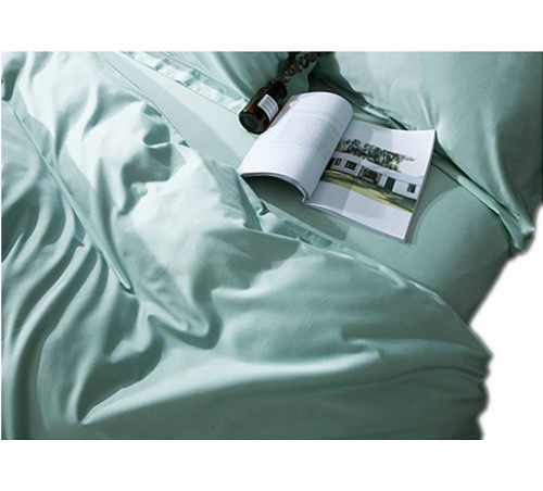 Plain Duck Egg Blue Duvet Cover Set 1