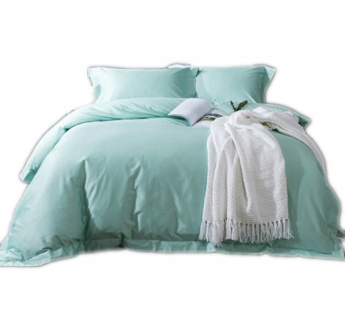 Plain Duck Egg Blue Duvet Cover Set