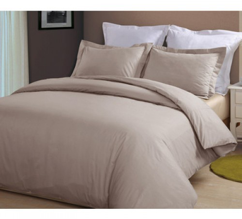 Plain Natural Duvet Cover Set, 500TC